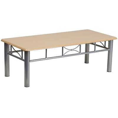 Flash Furniture Laminate Coffee Table With Silver Steel - Flash furniture coffee table