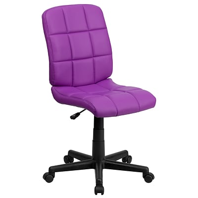 Flash Furniture Mid-Back Quilted Vinyl Task Chair, Purple