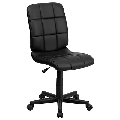 Flash Furniture Mid-Back Quilted Vinyl Task Chair, Black