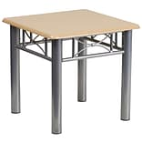 Flash Furniture 19 3/4 Laminate End Table with Silver Steel Frame, Natural