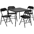 Flash Furniture 5 Piece Folding Card Table and Chair Set