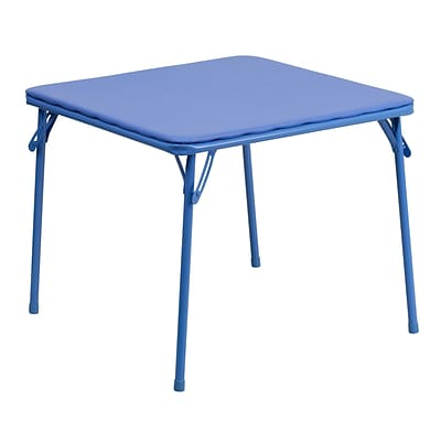 Flash Furniture 20 1/4 Kids Folding Table; Blue