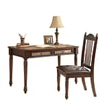 Coaster® Wood Table Desk and Side Chair Set; Cherry