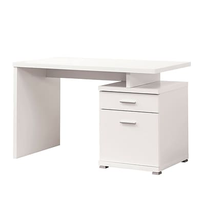 Coaster® Wood Desk With Cabinet; White