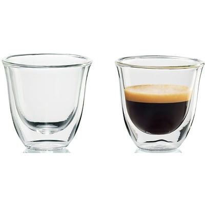 Delonghi® 2 oz. Espresso Thermo Glasses, Clear