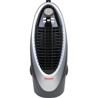 Honeywell CS10XE 21 Pint Indoor Portable Evaporative Air Cooler With Remote Control, White/Gray
