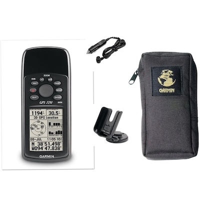 "Garmin(r) 6.2"" x 2.7"" x 1.2"" Handheld GPS Receiver Bundle, Black"