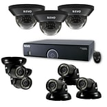 REVO™ 16CH 960H 2TB DVR Surveillance System with 3 Dome and 5 Mini Turret Cameras; Black