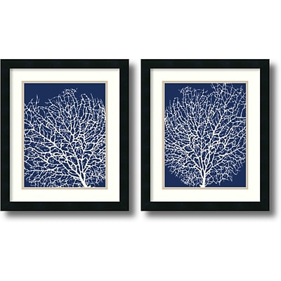 Amanti Art Navy Coral - Set of 2 Framed Art by Sabine Berg