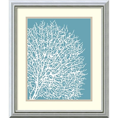 Amanti Art Aqua Coral II Framed Art by Sabine Berg