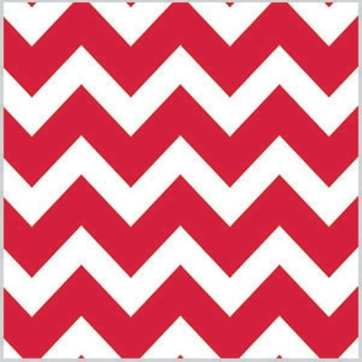 Shamrock Printed Tissue, Bold Chevron Red, 200 sheets/pack