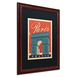 Trademark Anderson Paris, France III Paper Art, Black Matte W/Wood Frame, 16 x 20