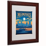 Trademark Anderson Memphis, Tennessee Paper Art, White Matte W/Wood Frame, 11 x 14