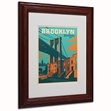 Trademark Anderson Brooklyn Paper Art, White Matte W/Wood Frame, 11 x 14