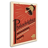 Trademark Anderson Philadelphia, PA Gallery-Wrapped Canvas Art, 14 x 19