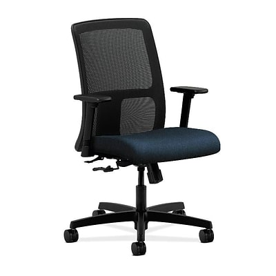 HON® Ignition® Mesh Low-Back Office/Computer Chair, Confetti Blue Fabric