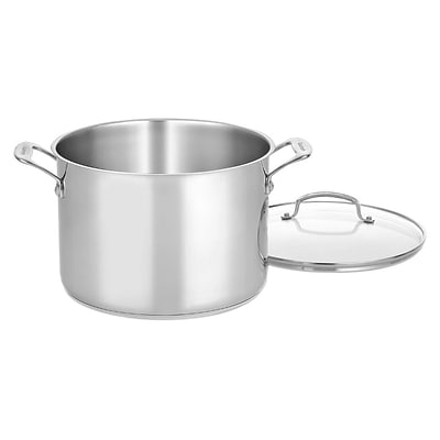 Cuisinart  Chefs Classic  10 qt. Stainless Steel Stockpot with Glass Cover; Silver