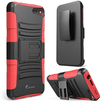 i-Blason Prime Series Dual Layer Holster Case With Kick Stand For Amazon Fire Phone, Red