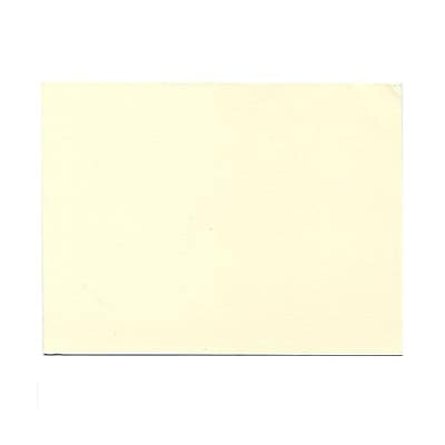 JAM Paper® Blank Note Cards, A6 size, 4 5/8 x 6 1/4, Natural White Impact, 100/pack (48427)