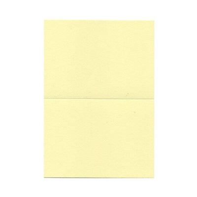 JAM Paper® Blank Foldover Cards, 4bar / A1 size, 3 1/2 x 4 7/8, Light Yellow, 100/pack (230913094)