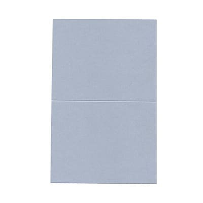 JAM Paper® Blank Foldover Cards, A2 size, 4.25 x 5.5, Curious Metallic Plasma Blue, 50/pack (69313369)