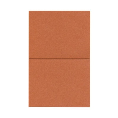 JAM Paper® Blank Foldover Cards, A2 size, 4.25 x 5.5, Stardream Metallic Jupiter Red, 50/pack (69313371)