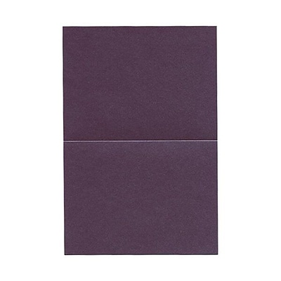 JAM Paper® Blank Foldover Cards, A6 size, 4 5/8 x 6 1/4, Stardream Metallic Ruby Purple, 25/pack (06935529B)