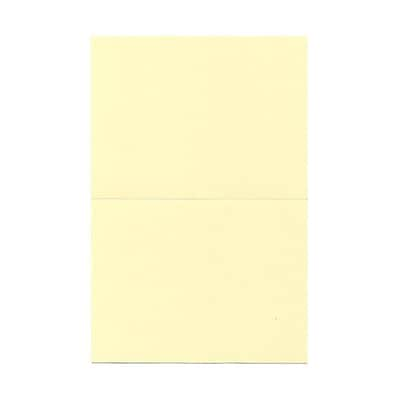 JAM Paper® Blank Foldover Cards, A7 size, 5 x 6 5/8, Ivory, 100/pack (309940)