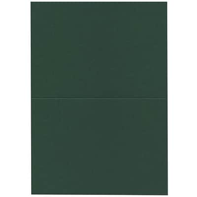 JAM Paper® Blank Foldover Cards, A7 size, 5 x 6 5/8, Dark Green, 25/pack (530913124C)