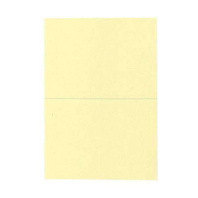 JAM Paper® Blank Foldover Cards, A7 size, 5 x 6 5/8, Light Yellow, 25/pack (530913125C)