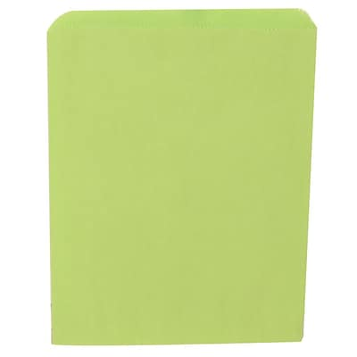 JAM Paper® Merchandise Bags, Medium, 8.5 x 11, Lime Green, 1000/carton (342126807)