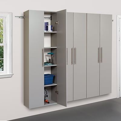 Prepac™ HangUps 72 Laminate 3 Piece Storage Cabinet Set C, Light Gray