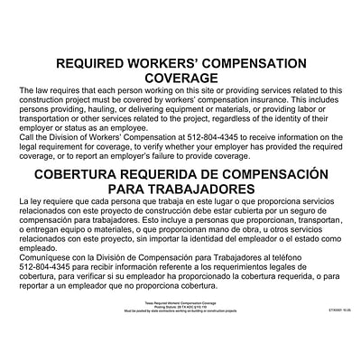 ComplyRight™ Texas Workers Compensation Coverage Poster