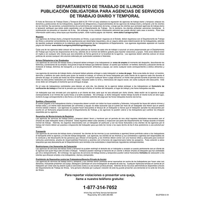 ComplyRight™ Illinois Day and Temporary Labor Services Act Spanish Poster