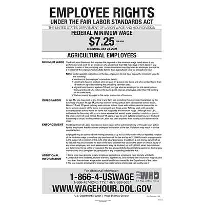 ComplyRight™ Agricultural Minimum Wage Poster