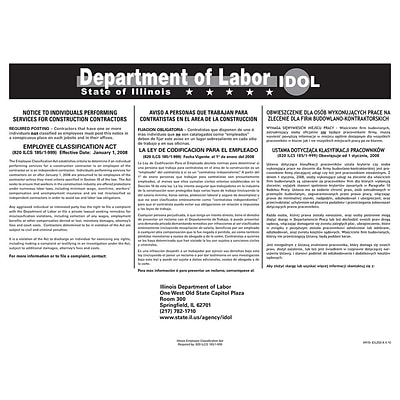 ComplyRight™ Illinois Employee Classification Act Poster
