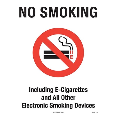 ComplyRight™ No E-Cigarettes Poster