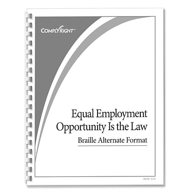 ComplyRight™ EEOC Braille Booklet