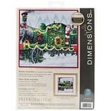 Dimensions 10 x 10 Counted Cross Stitch Kit, Santa Express