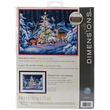 Dimensions 14 x 11 Counted Cross Stitch Kit, Woodland Glow