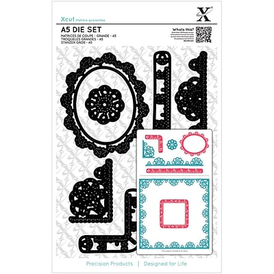 Docrafts Xcut A5 Die Set, Sew Lovely Trim Borders