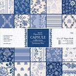 Docrafts Papermania 12 x 12 Paper Pack, Parisienne Blue