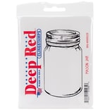 Deep Red 2 x 3 3/4 Cling Stamp, Mason Jar
