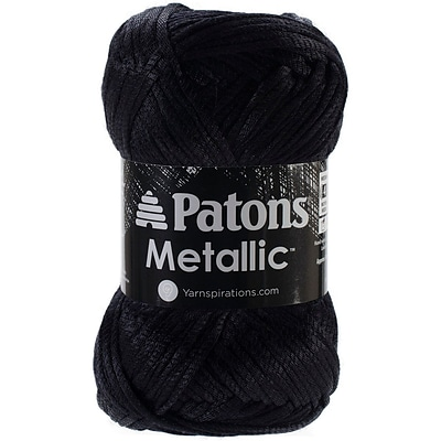 Spinrite® Patons® Metallic Yarn, Black