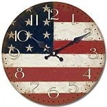 13 1/2 Wall Clock With American Flag Print