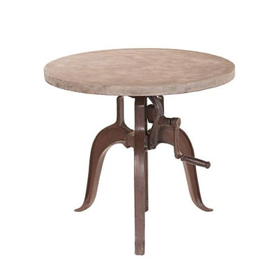 Yosemite 30 x 30 x 1.9 Solid Mango Wood/Cast Iron Bistro Table; Cement Coating