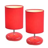 All the Rages Simple Designs LT2005-RED-2PK Stonies Lamp 2 Pack, Red