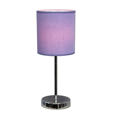 All the Rages Simple Designs LT2007-PRP Chrome Table Lamp Shade, Purple