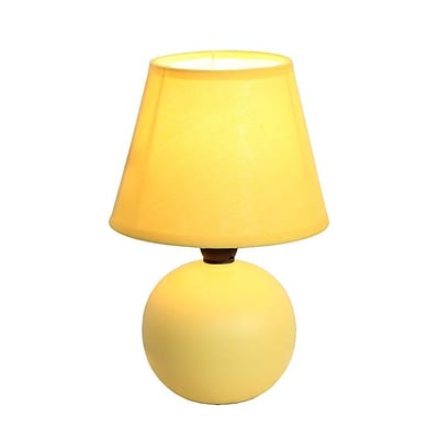 All the Rages Simple Designs LT2008-YLW Ceramic Globe Table Lamp, Yellow