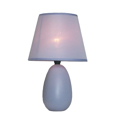 All the Rages Simple Designs LT2009-PRP Oval Ceramic Table Lamp, Purple